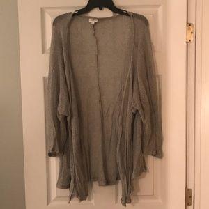 Lularoe silver cardigan, size M